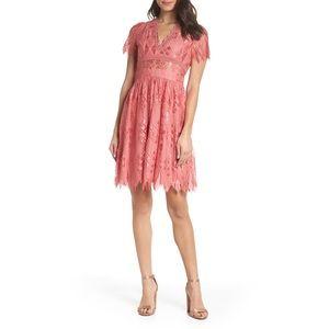 Foxiedox 'Bravo Zulu' Pink Lace Dress